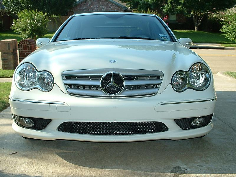 3 fins silver w chrome grill for mercedes benz w203 c for Mercedes benz grill