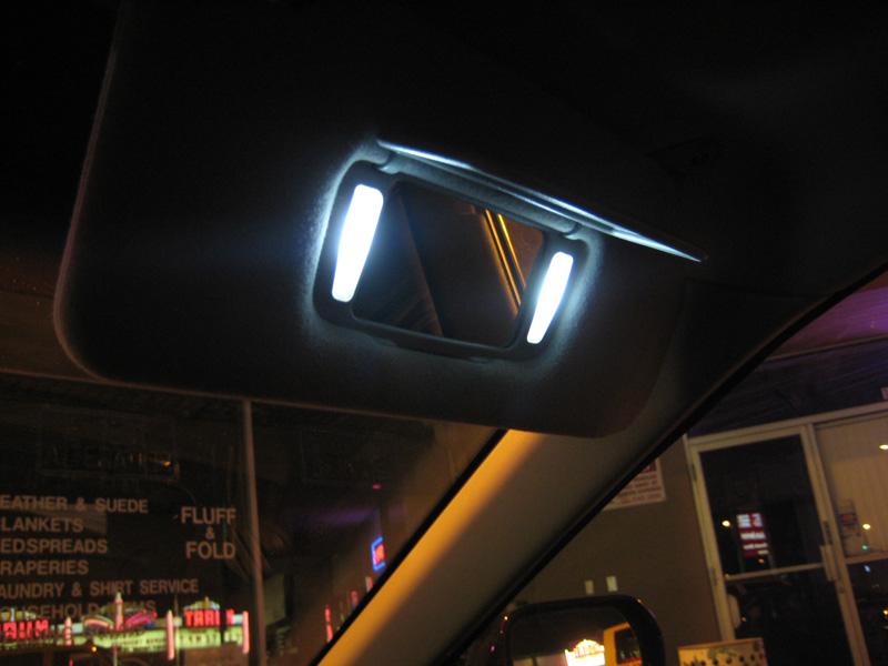 Xenon White 3-SMD 6641 Fuse LED Vanity Visor Mirror Light Bulbs eBay