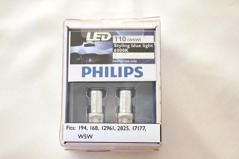 genuine philips 6000k t10 w5w 168 194 12961 2825 17177 led. Black Bedroom Furniture Sets. Home Design Ideas